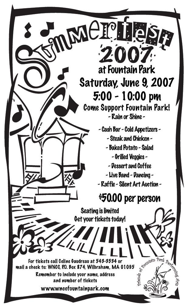Summerfest 2007 at Fountain Park Flyer