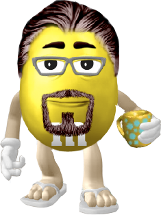 Jamie as an M&M