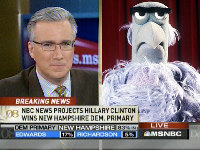 Separated at birth?  Keith Olbermann and Sam the Eagle