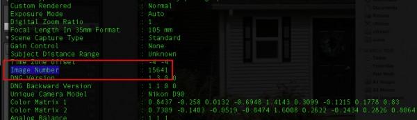 D90 Image Count