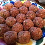 Meatballs rolled and ready